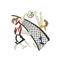 Embroidery design of people playing volley ball..jpg