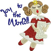"""Joy to the world"" embroidery design."