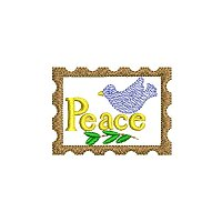Peace embroidery design without a tag
