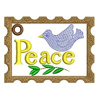 Large peace embroidery design