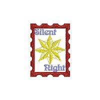 Silent night embroidery design without a tag.