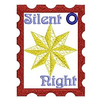 Large Silent night embroidery design.