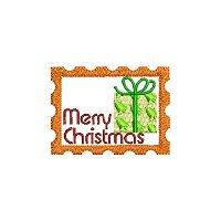 Merry Christmas embroidery design without a tag.