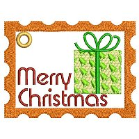 Large Merry Christmas embroidery design.