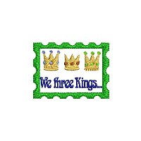 """We three kings"" embroidery design without a tag."