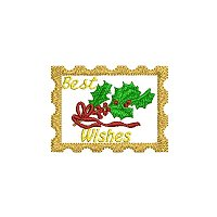 Best wishes embroidery design without a tag