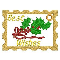 "Large ""Best wishes"" embroidery design."