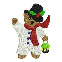 brEmbroidery design of a christmas bear