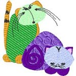 Link to the Crazy Cats embroidery design collection